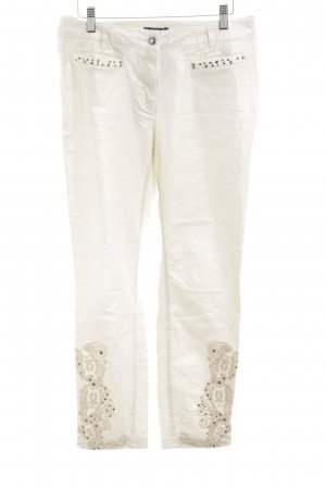 Biba High Waist Jeans cream-gold-colored casual look