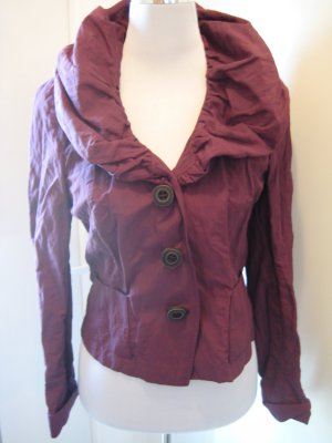 Biba Short Blazer purple-carmine cotton