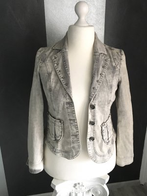 Biba Denim Blazer light grey