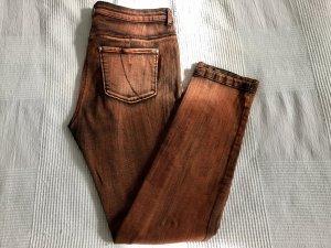 BiBa Jeans in Rostbraun/Schwarz Two-Tone-Färbung