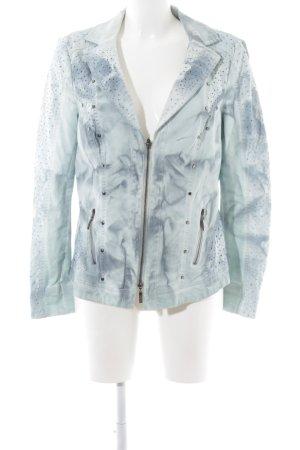 Biba Jeansjacke weiß-blau Farbverlauf Casual-Look