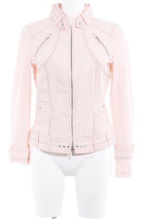 Biba Denim Jacket dusky pink casual look