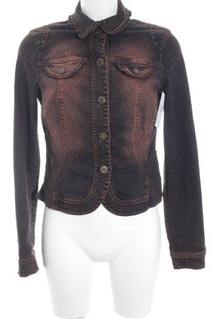 Biba Jeansjacke rostrot-braunviolett Farbverlauf Casual-Look