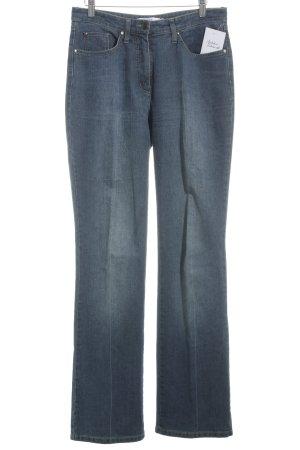 Biba Jeansschlaghose blau Jeans-Optik