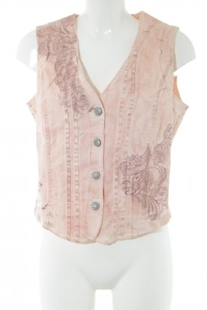 Biba Denim Vest cream embroidered lettering casual look