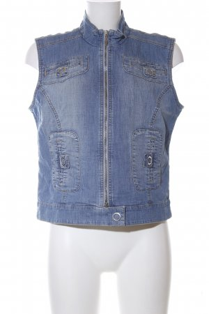 Biba Denim Vest blue casual look