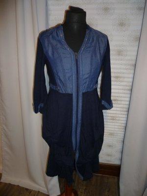 Biba Kleid Tunika Gr 38 zauberhaft Nieten Jeansblau
