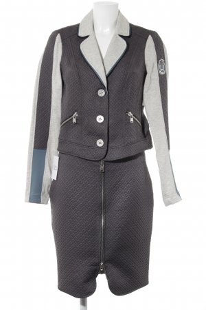 Biba Ladies' Suit grey-light grey mixed pattern business style