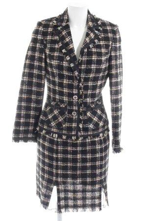 Biba Kostüm Karomuster Brit-Look Tweed Boucle