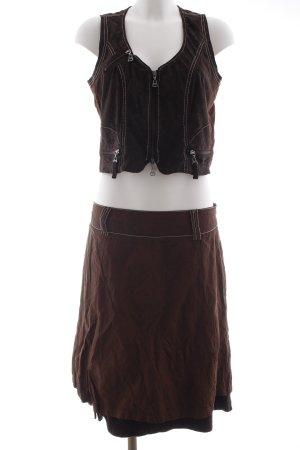 Biba Tailleur marrone-nero-marrone stile casual