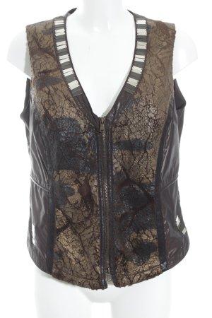 Biba Vest van imitatiebont bruin-brons casual uitstraling