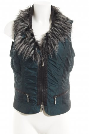 Biba Fake Fur Vest dark green casual look