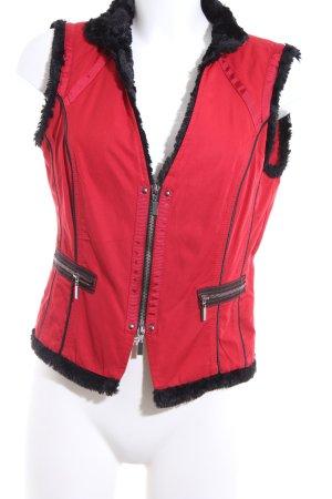 Biba Fake Fur Vest red-black casual look