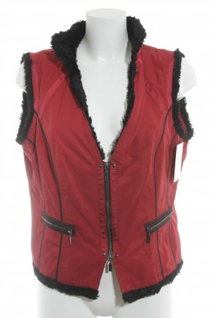 Biba Fake Fur Vest red-black extravagant style