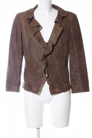 Biba Short Blazer brown abstract pattern casual look