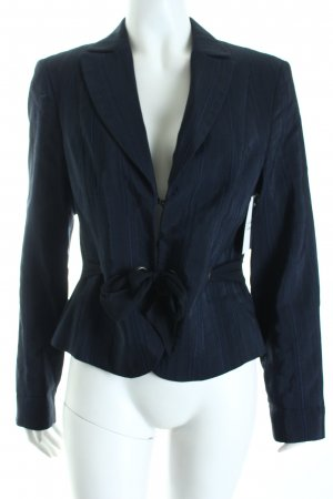 Biba Kurz-Blazer dunkelblau-schwarz Streifenmuster Eleganz-Look