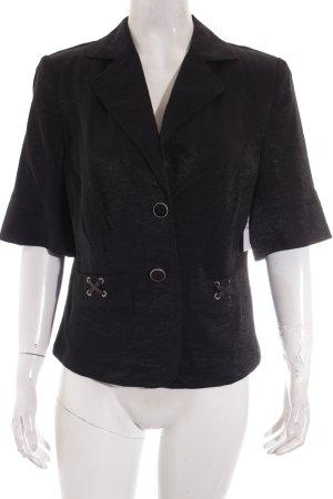 Biba Kurz-Blazer schwarz extravaganter Stil