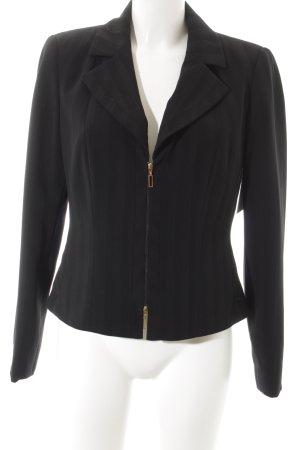 Biba Korte blazer zwart gestreept patroon klassieke stijl