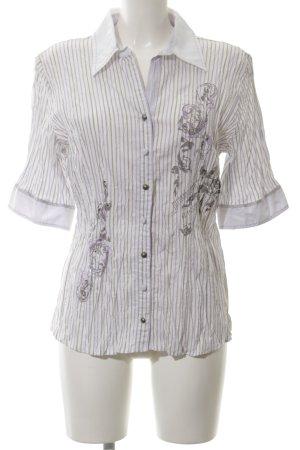 Biba Short Sleeved Blouse mixed pattern casual look