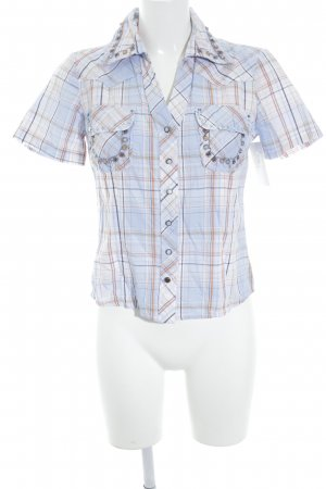 Biba Short Sleeved Blouse check pattern casual look