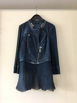 Biba Short Blazer dark blue cotton