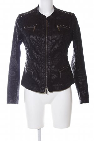 Biba Short Jacket black allover print business style