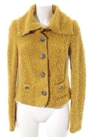 Biba Short Jacket dark yellow fluffy