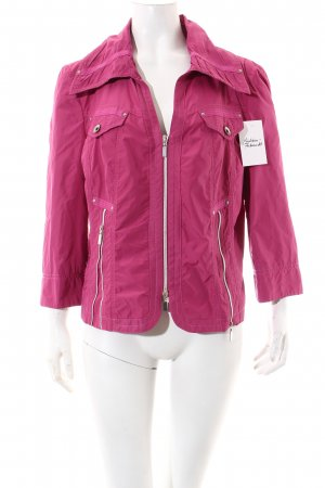 Biba Short Jacket pink Ornamental zipper