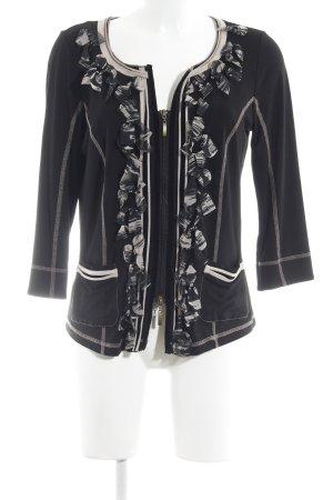 Biba Short Jacket black-oatmeal casual look