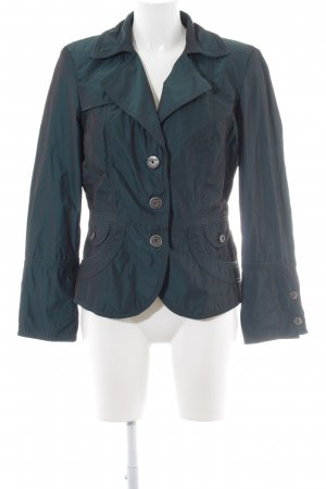 Biba Short Jacket forest green wet-look