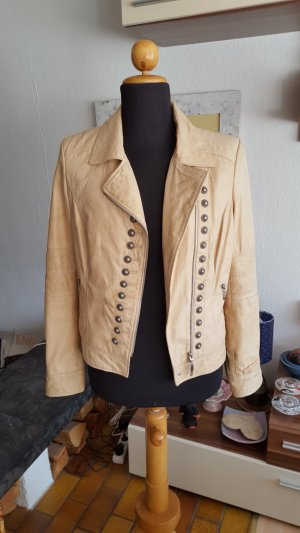 Biba Leather Jacket cream