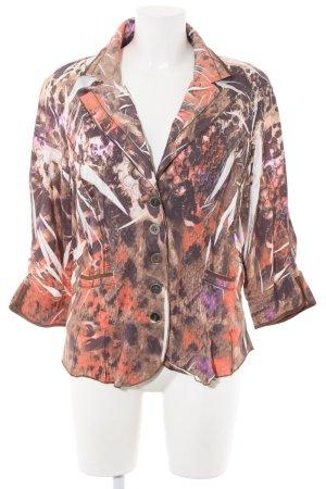 Biba Langarm-Bluse abstraktes Muster Elegant
