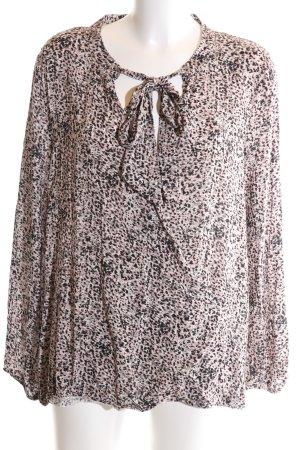 Biba Long Sleeve Blouse pink allover print business style