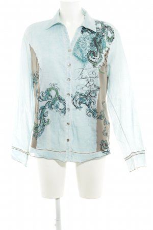 Biba Long Sleeve Blouse abstract print casual look