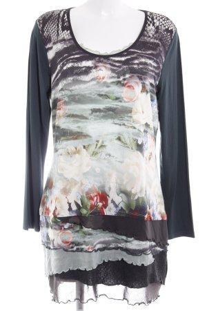Biba Blusa de manga larga estampado floral estilo extravagante