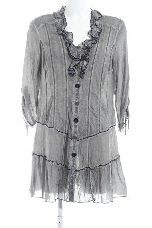 Biba Blusa de manga larga gris look casual