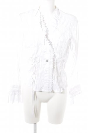 Biba Long Sleeve Blouse white lace look
