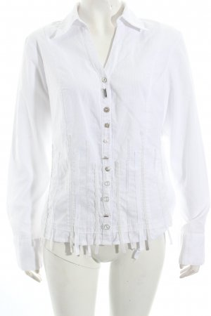 Biba Langarm-Bluse weiß Streifenmuster extravaganter Stil