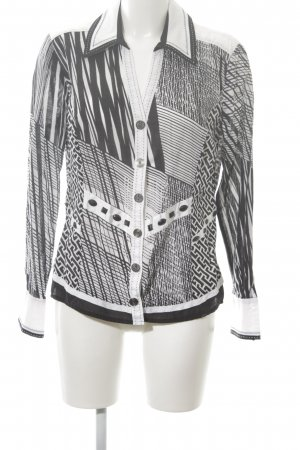 Biba Long Sleeve Shirt white-black graphic pattern extravagant style