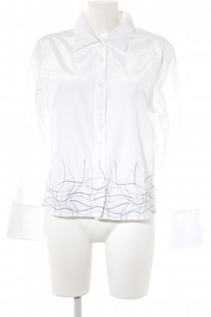 Biba Long Sleeve Shirt white-light grey casual look