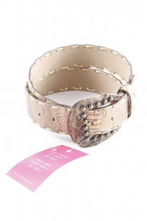 Biba Leather Belt gold-colored-brown violet spots-of-color pattern elegant