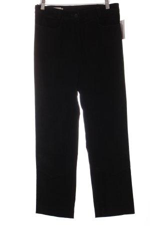 Biba Pantalone in pelle nero stile casual