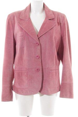 Biba Lederjacke pink Business-Look