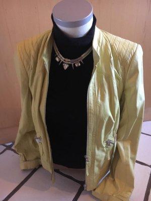 Biba Leather Jacket yellow leather