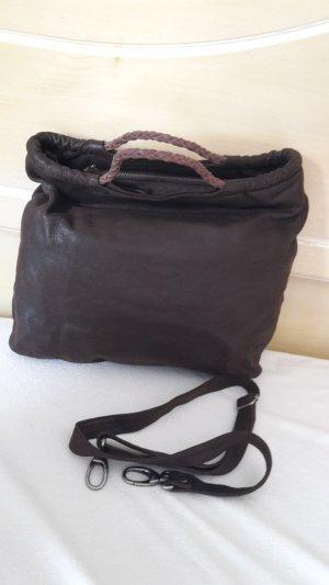 Biba Crossbody bag dark brown leather