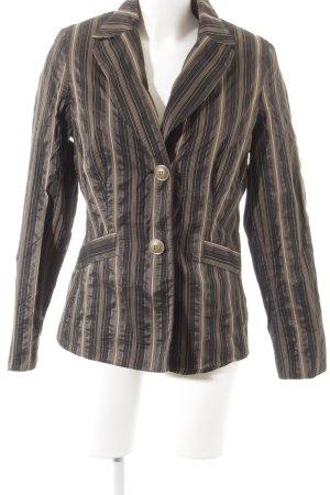 Biba Lange blazer gestreept patroon vintage uitstraling