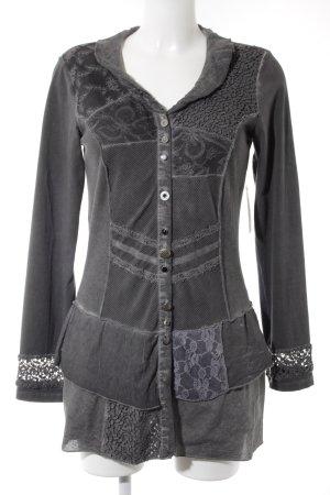 Biba Long Sweater anthracite-dark grey flecked vintage look