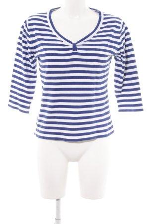 Biba Longsleeve blue-white striped pattern casual look