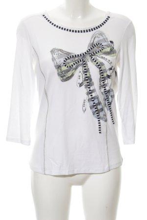 Biba Longsleeve white themed print casual look