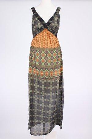 Biba Maxi Kleid mit Muster olivgrün Größe 34